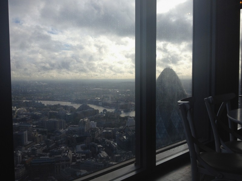 4b94adfa Next day was all about a birthday brunch at Duck & Waffle with a classic  peanut butter jelly toastsed brioche and a rainy but oh still so impressive  view ...